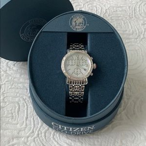Citizen Eco-Drive watch with crystals